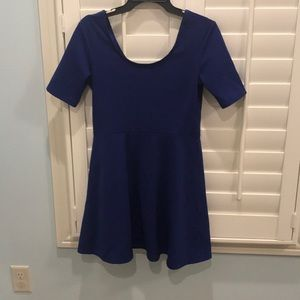 Blue half sleeve dress